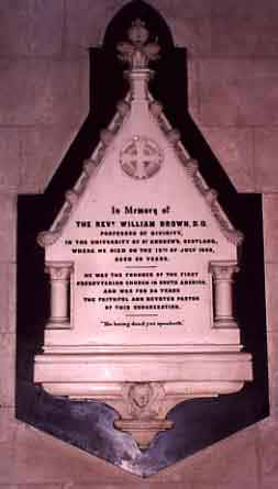 Memorial to the Revd William Brown